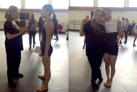 Tracie and I at the Contemporary Intensive! It was such an amazing intensive!! Thank you so much Tracie and BDC for the opportunity!